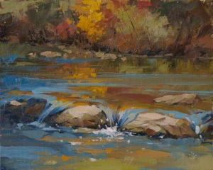 Reflections on the Animas 8x10 plein air - oil on linen panel $475