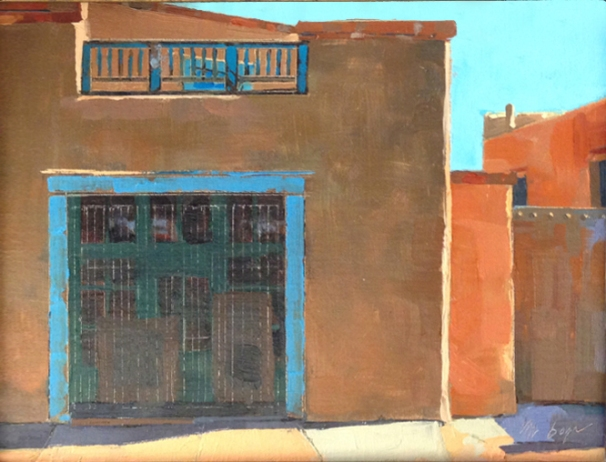 West San Francisco Street Santa Fe 8X10 - oil on panel SOLD