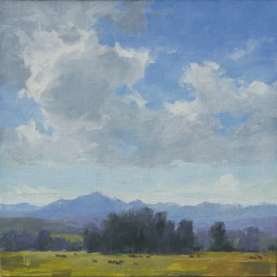 Wolf Creek Watching 8x8 plein air - oil on linen panel $525