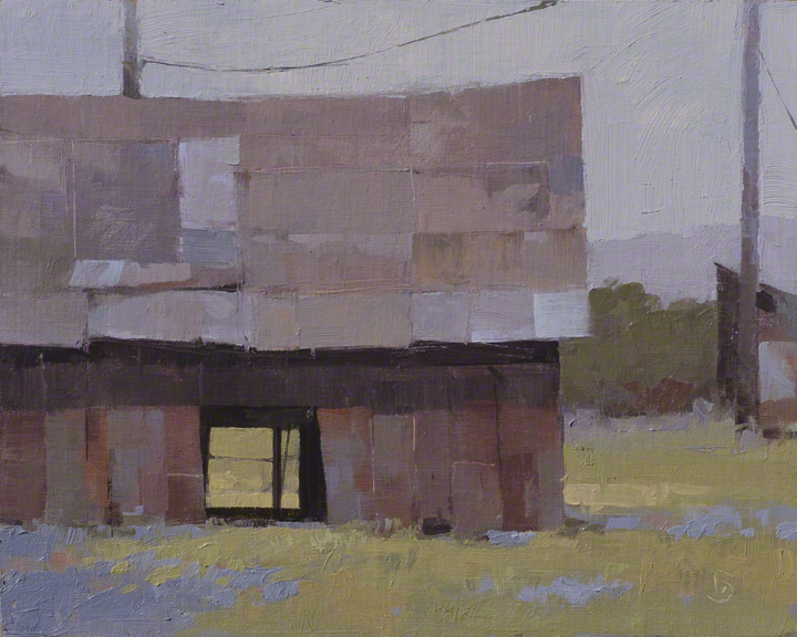 Quilt in Timber and Tin 8x10 - plein air oil on linen panel $525