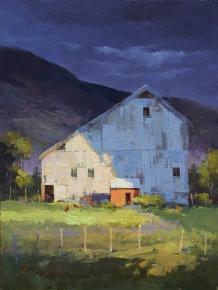 Lyn Boyer Studio Gallery 'The Light Side' 16x12 oil on linen panel SOLD