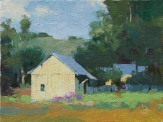 Yellow Barn 6x8 - plein air oil on panel SOLD