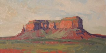 Afternoon - Eagle Mesa, Monument Valley 6x12 - plein air oil on linen panel SOLD