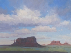 Eagle Mesa - Monument Valley 9x12 - plein air oil on linen panel1250.00 Sorrel Sky Gallery