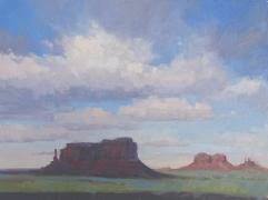 Eagle Mesa - Monument Valley 9x12 - plein air oil on linen panel1250.00 Sorrel Sky Gallery