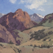 Lyn Boyer Studio Gallery 'Last Snow Mineral County'Creede, Colorado 8x8- plein air oil on linen panel SOLD
