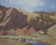 Lyn Boyer Studio Gallery 'Rio Grande High Country' Creede, Colorado 8x10 plein air oil on linen panel1600.00