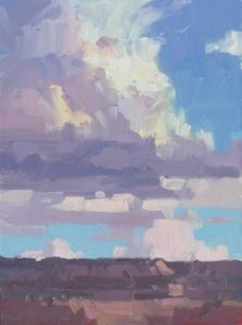 Canyon Monsoon - Grand Canyon, AZ 8x6 - plein air oil on linen panel SOLD