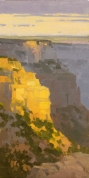 Hopi Dawn - Grand Canyon, AZ 12x6 - plein air oil on linen panel SOLD