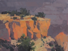 Moran Glow - Grand Canyon, AZ 9x12 - plein air oil on linen panel