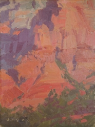 Red Morning, Sedona AZ8x6 - plein air oil on linen panel575.00 Oh Be Joyful Gallery