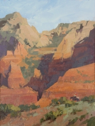 The Hideout - Sedona AZ9x12 - plein air oil on linen panelSOLD