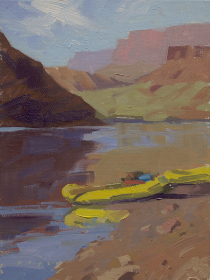 The Put In - Lees Ferry, AZ 8x6 - plein air oil on linen panel575.00