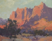 Jimmy Jones Place - Zion, UT 8x10 - plein air oil on linen panel950.00