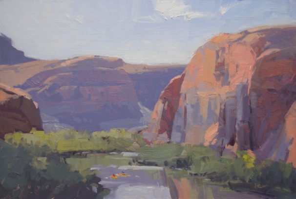 Oh Be Joyful Gallery Red Rocks Arts Festival First Place 'Yellow Rafts' Moab, Utah8x12 plein air oil on linen panelSOLD
