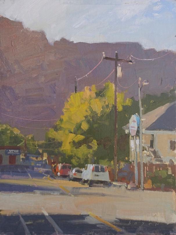 Artist's Choice Award Downtown Quickdraw- Red Rocks Art FestivalMain and Second12x9 - plein air oil on linen panel 1250.00 Sorrel Sky Gallery