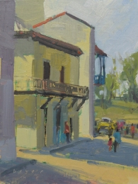 Blue Balcony - Havana 8x6 - plein air oil on linen panel 575.00