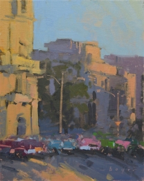 Parque Central - Havana 10x8 - plein air oil on linen panel SOLD