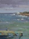 Lyn Boyer Studio Gallery 'Cojimar, Cuba' 8x6 plein air oil on linen panel 950.00