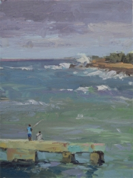 Cojimar - Cuba 8x6 - plein air oil on linen panel 575.00
