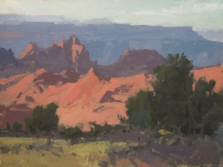 Sorrel Sky Gallery 'Kolob Terrace' Zion, UT 9x12 - plein air oil on linen panelSOLD