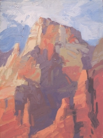 Zion Reds8x6 - plein air oil on linen panel575.00