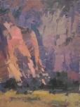 Zion Pinks8x6 - plein air oil on linen panel575.00