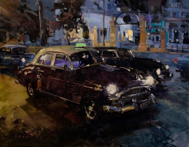 Plein Air SalonBest Vehicle AwardOPA Salon Exhibition Award of Excellence 'Havana Nights' 14x18 oil on linen panelSOLD