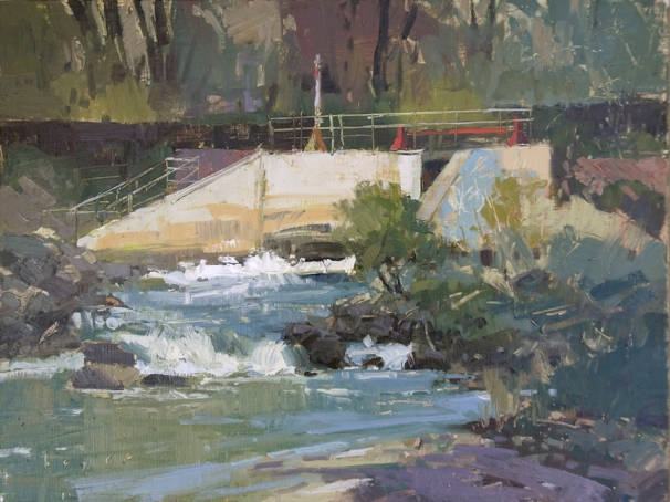 PAAC National Juried Exhibition Oct 10-28 Dam Graffiti9x12 plein air oil on linen panel1250.00Sorrel Sky Gallery