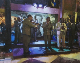 The Buena Vista Social Club16x20 - oil on linen panel Cafe Taberna, Havana, Cuba4100.00