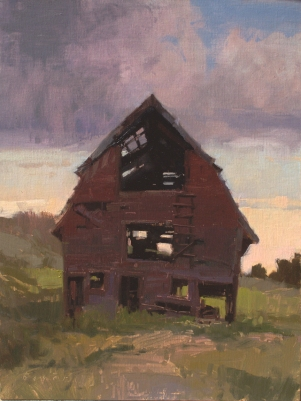 The Arnold Barn16x12 - plein air oil on linen panel Steamboat Springs, ColoradoSOLD - SEDONA ARTS CENTER