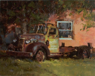 Parolek Garage and Machine Shop16x20 - oil on linen panel Taos, New Mexico4100.00 Authentique Gallery