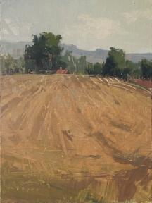 Sorrel Sky Gallery 'Field's Rest'12x9 plein air oil on linen panel 1250.00