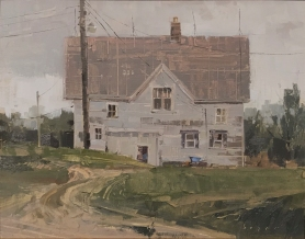 Honorable Mention - Paint Grand Traverse Jim's Place11x14 - plein air oil on linen panel 1525.00 Sorrel Sky Gallery