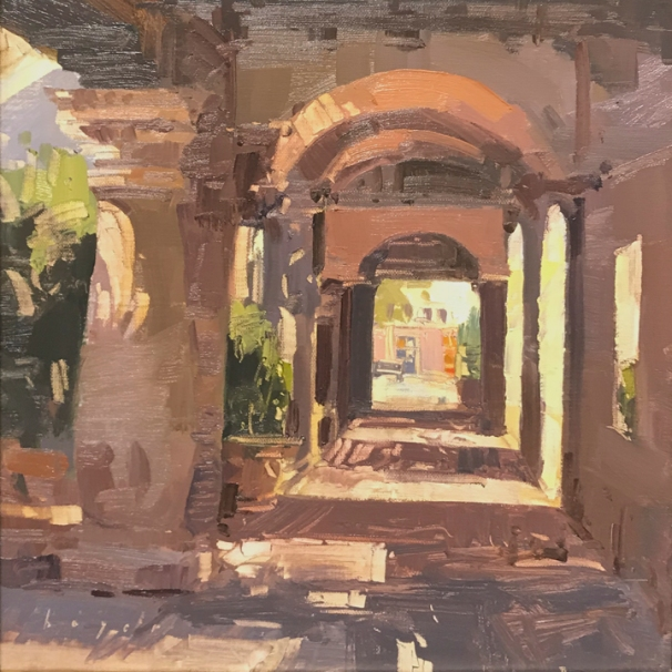 Sedona Art Center Sedona Plein Air Festival SAC Image Award 'Dimensions' 10x10 plein air oil on linen panel SOLD