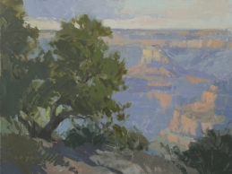 Grand Canyon Celebration of ArtKolb Studio and Gallery Colored by the Ages9x12- plein air oil on linen panel 975.00