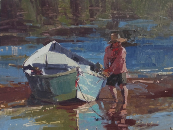 Grand Canyon Celebration of Art The Blue Dory9x12 plein air oil on linen panelSOLD