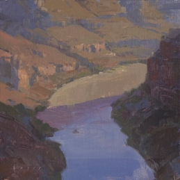 Celebrating Grand CanyonWest Valley Arts Council Exhibition River Runners8x8 - plein air oil on linen panel 750.00