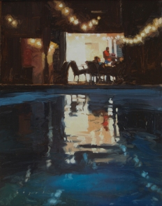 50th Annual Mountain Oyster Show Tucson, AZ 'Cabana Nights'14x11 oil on linen panel SOLD