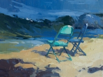 Party of Two9x12 plein air oil on linen panel 1250.00