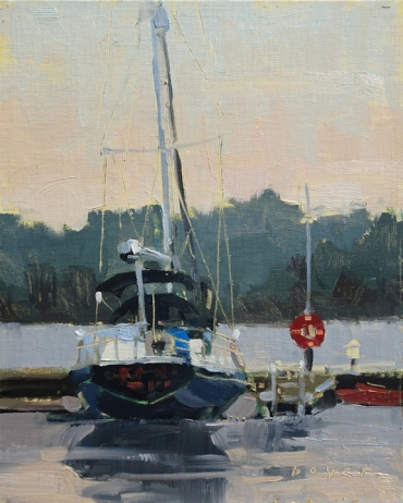 Lyn Boyer Studio Gallery Door County Plein Air Invitational 'Tucked Up' 8x10 plein air oil on linen panel 1600.00