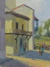 Blue Balcony - Havana 8x6 - plein air oil on linen panel 675.00