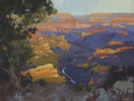 Brand New Day12x16 plein air oil on linen panel 1575.00Grand Canyon Celebration of Art