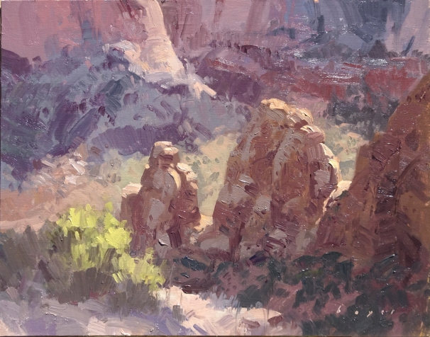 Artist's Point - Colorado National Monument11x14 plein air oil on linen panel 1525.00