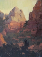 Sedona Art Center Sedona Plein Air Festival 'Giving Warmth' 12x9 plein air oil on linen SOLD