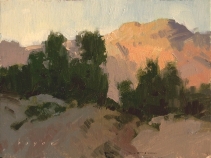 Mary Williams Gallery Boulder, Colorado 'Warms and Cools'6x8 plein air oil on linen panel 675.00