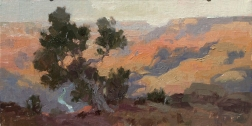 Drift Away6x12 plein air oil on linen panel 850.00Grand Canyon Celebration of Art